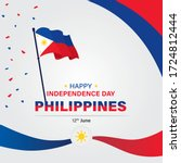 philippines independence day... | Shutterstock .eps vector #1724812444