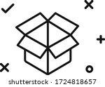 box package vector flat line...   Shutterstock .eps vector #1724818657