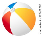 beach ball | Shutterstock .eps vector #172482635