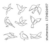 Birds Continuous Line Drawing...