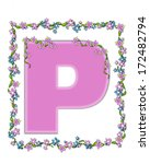 the letter p  in the alphabet... | Shutterstock . vector #172482794