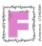 the letter f  in the alphabet... | Shutterstock . vector #172482884