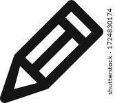 edit pencil pen vector flat...   Shutterstock .eps vector #1724830174