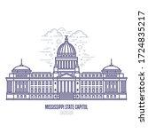 mississippi state capitol... | Shutterstock .eps vector #1724835217