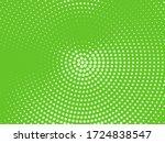 green halftone background.... | Shutterstock .eps vector #1724838547