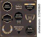vector gold frames. premium... | Shutterstock .eps vector #172483865