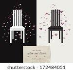 wedding  valentine or... | Shutterstock .eps vector #172484051