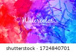colorful watercolor abstract... | Shutterstock .eps vector #1724840701