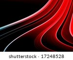 red abstract fractal on black... | Shutterstock . vector #17248528