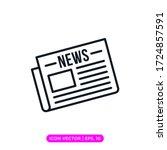 newspaper icon vector design... | Shutterstock .eps vector #1724857591