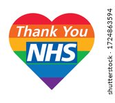 thank you nhs rainbow love... | Shutterstock .eps vector #1724863594