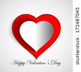 happy valentines day   red... | Shutterstock .eps vector #172487045