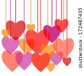 hearts set love art decorative... | Shutterstock .eps vector #172487435