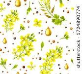 seamless background of flower ...   Shutterstock .eps vector #1724890774