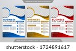set of flyer template with... | Shutterstock .eps vector #1724891617