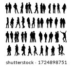 young man and woman walking... | Shutterstock .eps vector #1724898751