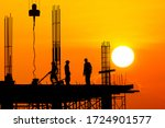 Silhouette Worker Construction...