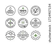 natural or fresh product badge... | Shutterstock .eps vector #1724907154