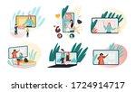 e learning  online education...   Shutterstock .eps vector #1724914717