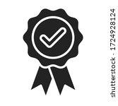 approved medal  reward black...   Shutterstock .eps vector #1724928124