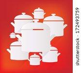 kitchen pan icon | Shutterstock . vector #172493759