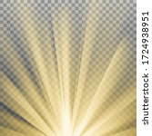 yellow sun rays with warm... | Shutterstock .eps vector #1724938951
