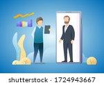 work from home. online... | Shutterstock .eps vector #1724943667
