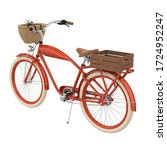 Retro Bicycle Isolated. 3d...
