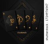 casino poker tournament...   Shutterstock .eps vector #1724976547