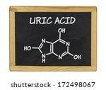 chemical formula of uric acid... | Shutterstock . vector #172498067