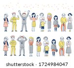 a set of various people ...   Shutterstock . vector #1724984047