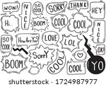 hand drawn background set of... | Shutterstock .eps vector #1724987977