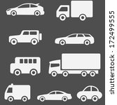 cars and trucks set | Shutterstock .eps vector #172499555