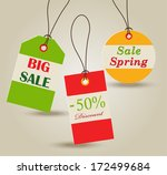 spring sale price tags | Shutterstock .eps vector #172499684