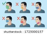 the right and wrong way to wear ... | Shutterstock .eps vector #1725000157