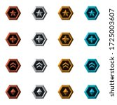 collection of flat rank icons... | Shutterstock .eps vector #1725003607