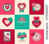 set of valentines day...   Shutterstock .eps vector #172500437