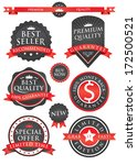 set of badges and ribbon | Shutterstock .eps vector #172500521