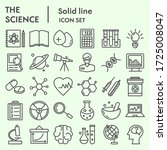 science line icon set  research ... | Shutterstock .eps vector #1725008047