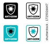 """anti germ"" zone  sanitation ... | Shutterstock .eps vector #1725026647"