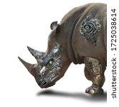 Rhino Robot Isolate On White...