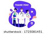 doctors in white medical face...   Shutterstock .eps vector #1725081451