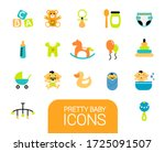 collection of different baby... | Shutterstock .eps vector #1725091507