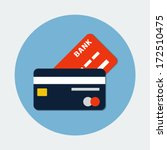 bank credit card icon | Shutterstock .eps vector #172510475
