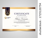 elegant blue and gold diploma... | Shutterstock .eps vector #1725120754