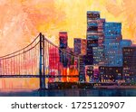 Abstract Oil Painting  Panorama ...