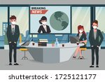 business office people maintain ... | Shutterstock .eps vector #1725121177