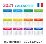 2021 calendar french   vector... | Shutterstock .eps vector #1725134227