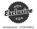 exclusive sign. exclusive round ... | Shutterstock .eps vector #1725144811