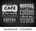 set of coffee labels on... | Shutterstock .eps vector #172518461